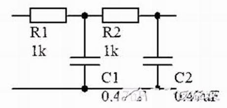 rc低通滤波电路图