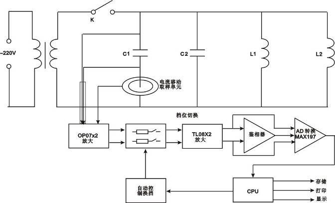 放大电路输出的电流信号通过鉴相器输出相位差信号