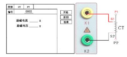 CT励磁特性测试界面和励磁特性(退磁)接线图