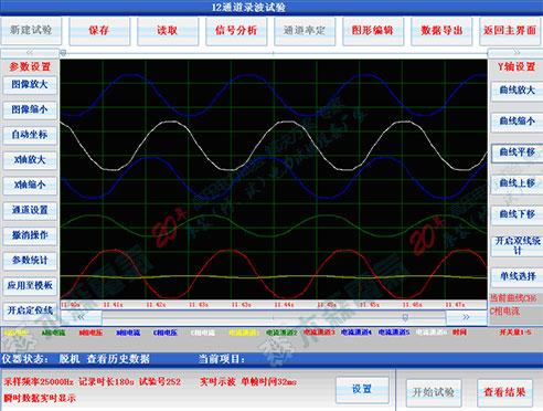 发电机综合特性测试仪软件工作界面