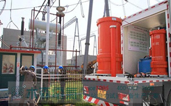感应耐压带局放测量装置应城220kV主变试验
